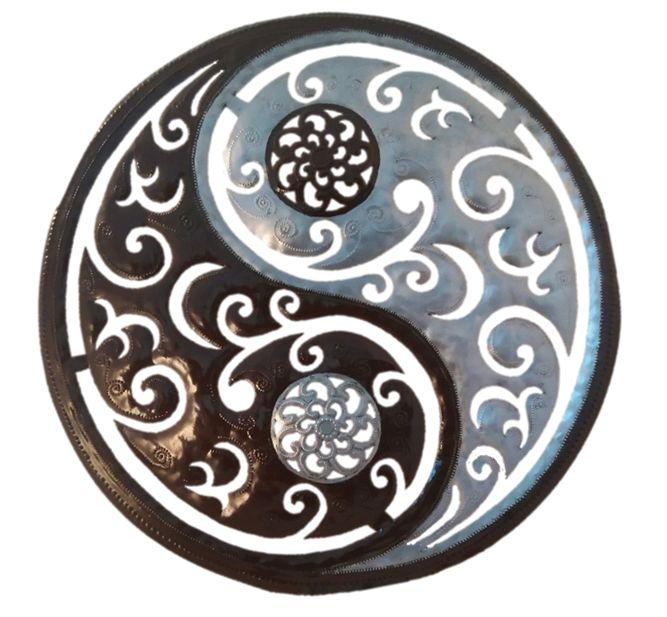 Carved Yin Yang