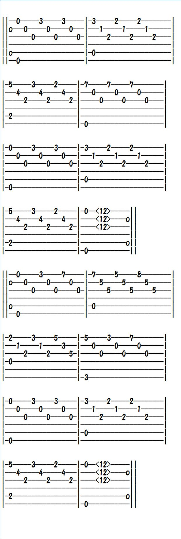how to read classical guitar tabs