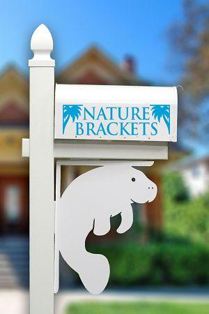 Manatee Mailbox or Porch Corner Bracket | NatureBrackets.com