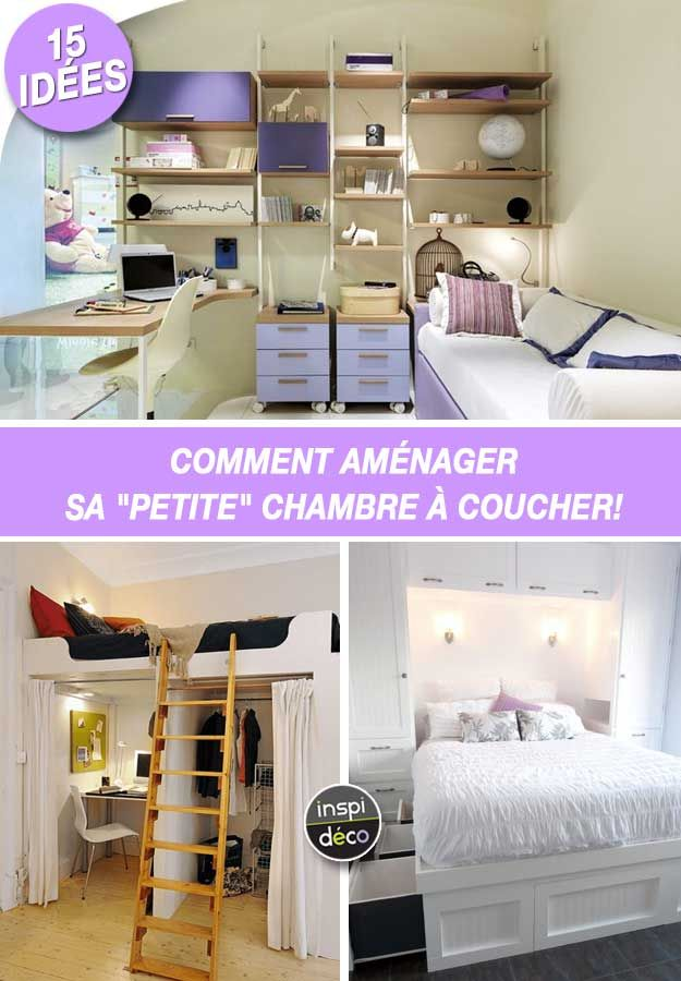 comment am nager une petite chambre coucher 15 id es inspirantes design house pinterest. Black Bedroom Furniture Sets. Home Design Ideas