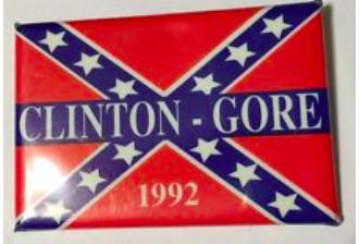 Hillary Clinton Not Talking About '92 Clinton-Gore Confederate Campaign Button- TheBlaze asked if the former Arkansas first lady opposed now or opposed then an act signed by her husband honoring the Confederate flag.