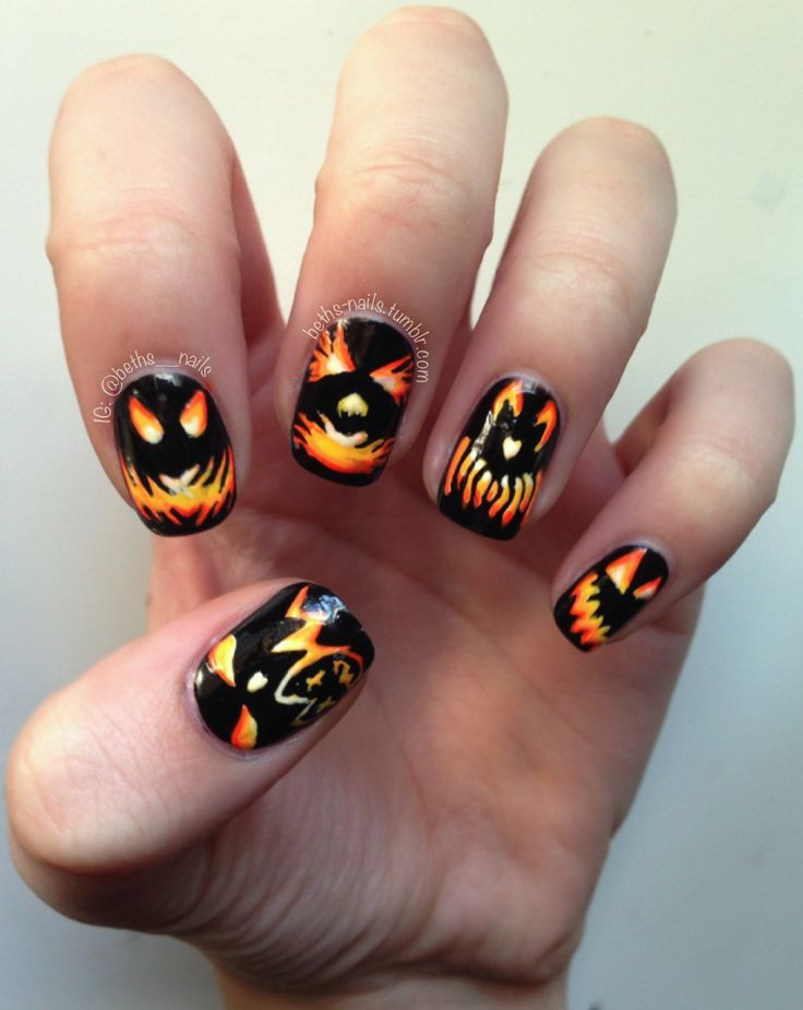 151 best ♥Halloween Fall Nail Art♥ images on Pinterest | Autumn ...