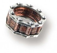 steampunk mans wedding ringhe already likes this look lol - Steampunk Wedding Rings
