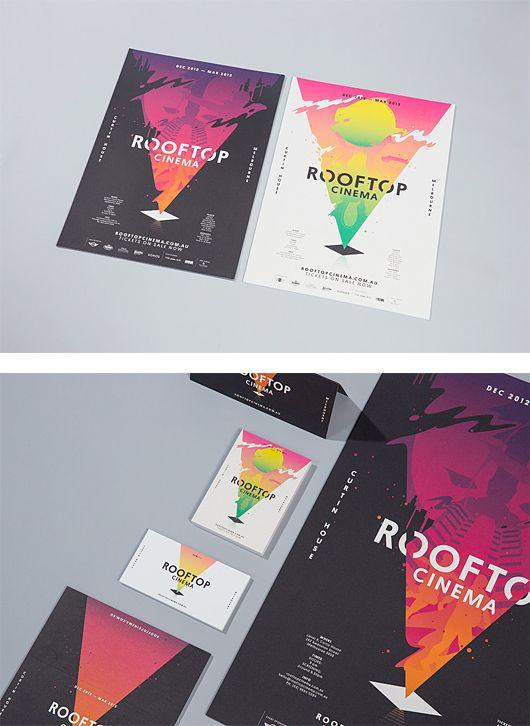 Rooftop Cinema Branding by SouthSouthWest | Inspiration Grid | Design Inspiration