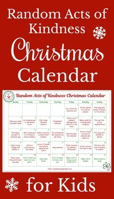 This random acts of kindness Christmas calendar is designed just for kids! What a great way to show kids that you're never too young to make a positive impact.