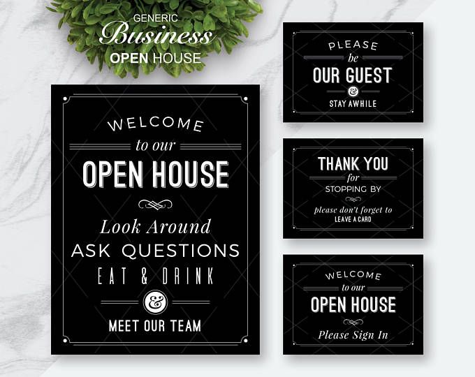 best 25  open house signs ideas on pinterest