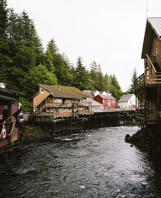 Ketchikan, Alaska USA... I was just here... pretty awesome place.  Not going to lie... I would love to live in coastal Alaska....