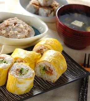 卵巻き寿司」の献立・レシピ - 【E・レシピ】料理のプロが作る簡単 ... 卵巻き寿司の献立