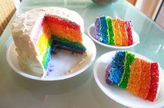 Cómo hacer una tarta arcoiris http://ini.es/1CuZD3M