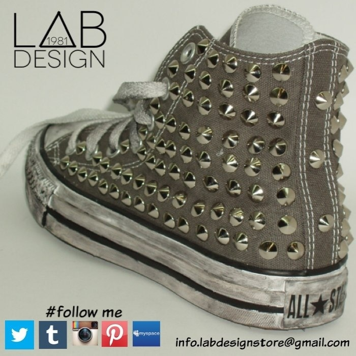 Converse customized studded handmade by labdesign