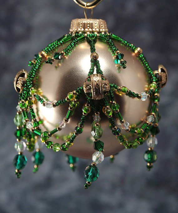 1000 images about beaded ornament covers on pinterest for Weihnachtskugeln vintage