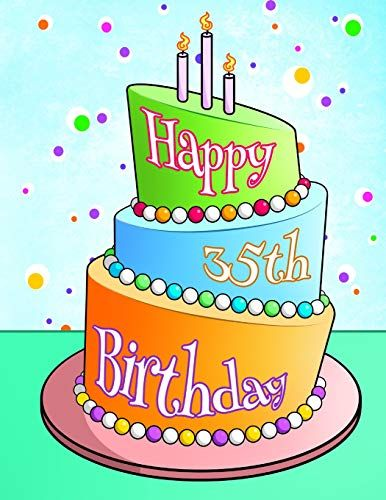 Download Pdf Happy 35th Birthday Journal Notebook Diary 105 Lined