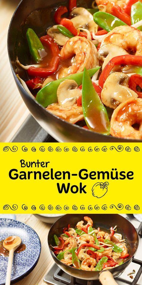Ganz einfach ein tolles Low Carb Gericht gezaubert. Mit unserem Rezept gibt es ohne große Mühe einen bunten Garnelen-Gemüse-Wok.