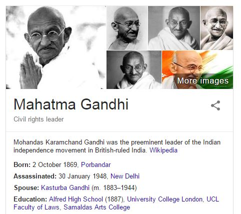 "Today Mahtma Gandhi's left this world with ""Hey Ram!"" as his last words.  I'll be sharing some of his photos edited by people for their own benefit and misuse."