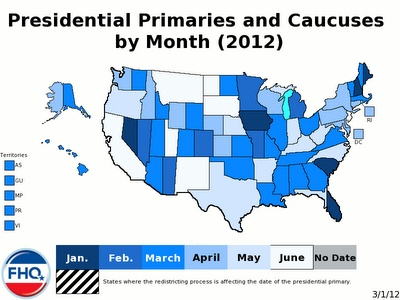 The 2012 Presidential Primary Calendar (Republican and Democratic)