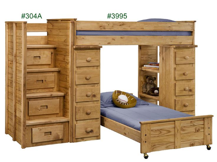 chelsea home twin over twin loft bed w staircase panel hbfb in ginger stain traditional furniture