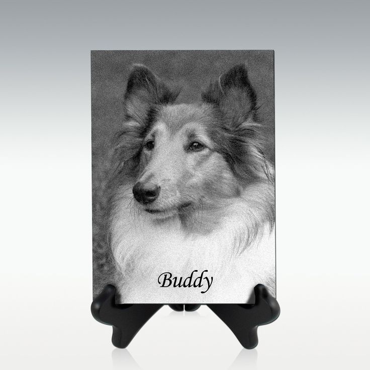 5x7 Engraved Granite Plaque with Display Stand - Vertical