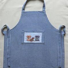 Tablier de cuisine en coton brodé - petite souris gourmande - pour enfant fille ou garçon