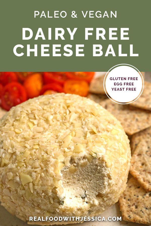 Paleo Vegan Cheese Ball Recipe In 2020 Dairy Free Cheese Vegan Paleo Real Food Recipes