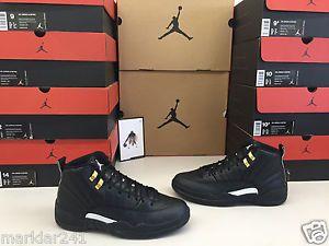 "NIKE AIR JORDAN 12 RETRO ""THE MASTER"" Black Rattan White Gold 130690 013 #Nike #AirJordan #Basketball #Shoes #Retro #Sneakers #Kicks #Men #Bball #Shoe #Footwear #Forsale #ebay @ebay"