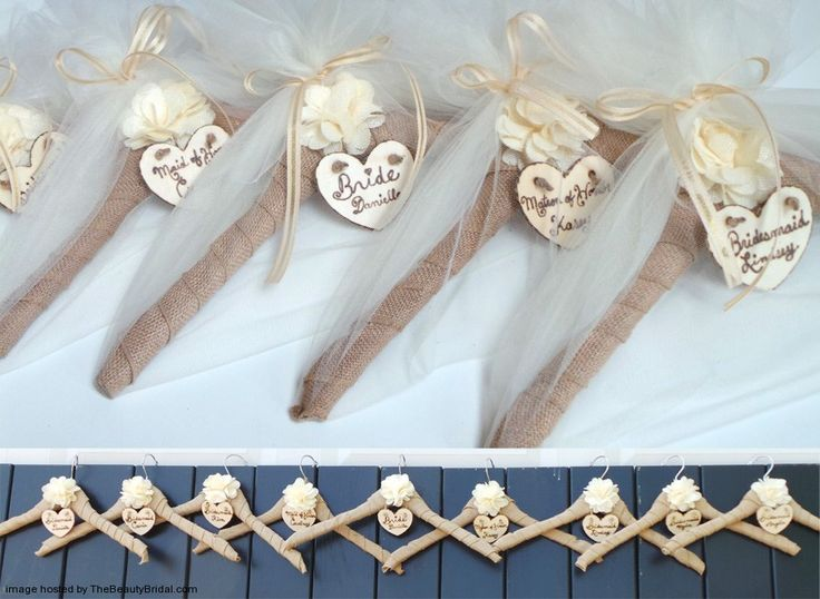 1000 ideas about bridesmaid hangers on pinterest bridal for Wedding dress hangers with name