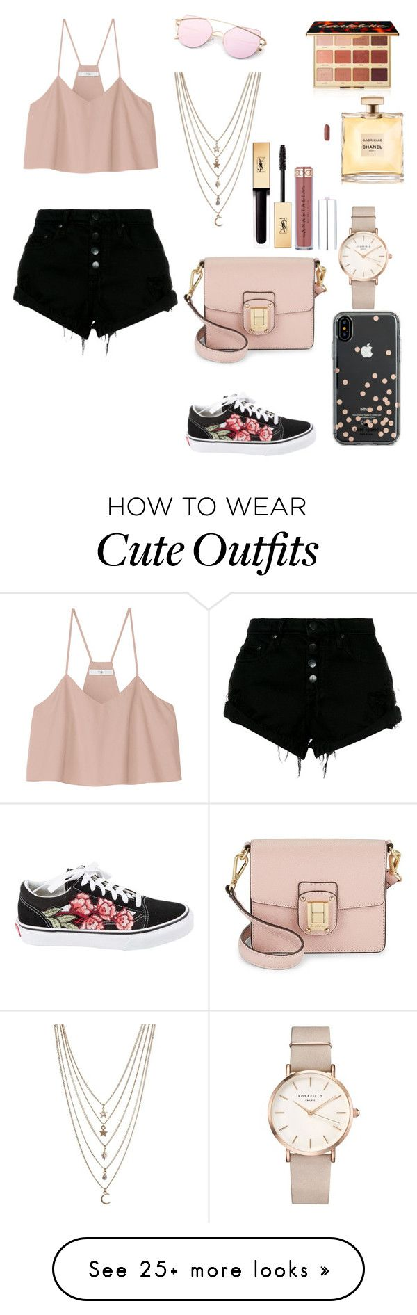 """Cute Outfit"" by anabia1997 on Polyvore featuring TIBI, Nobody Denim, Vans, Sam Edelman, Kate Spade, Ettika, ROSEFIELD, tarte and Yves Saint Laurent"