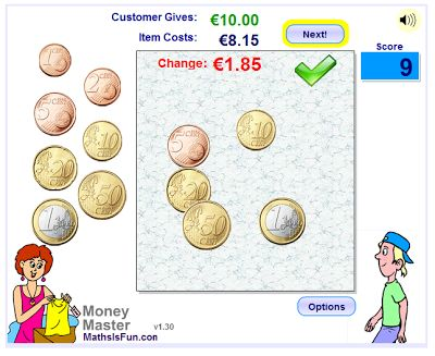 ο ζωηρός μαθητής της δευτέρας: Παιχνίδι με τα ευρώ: τα ρέστα