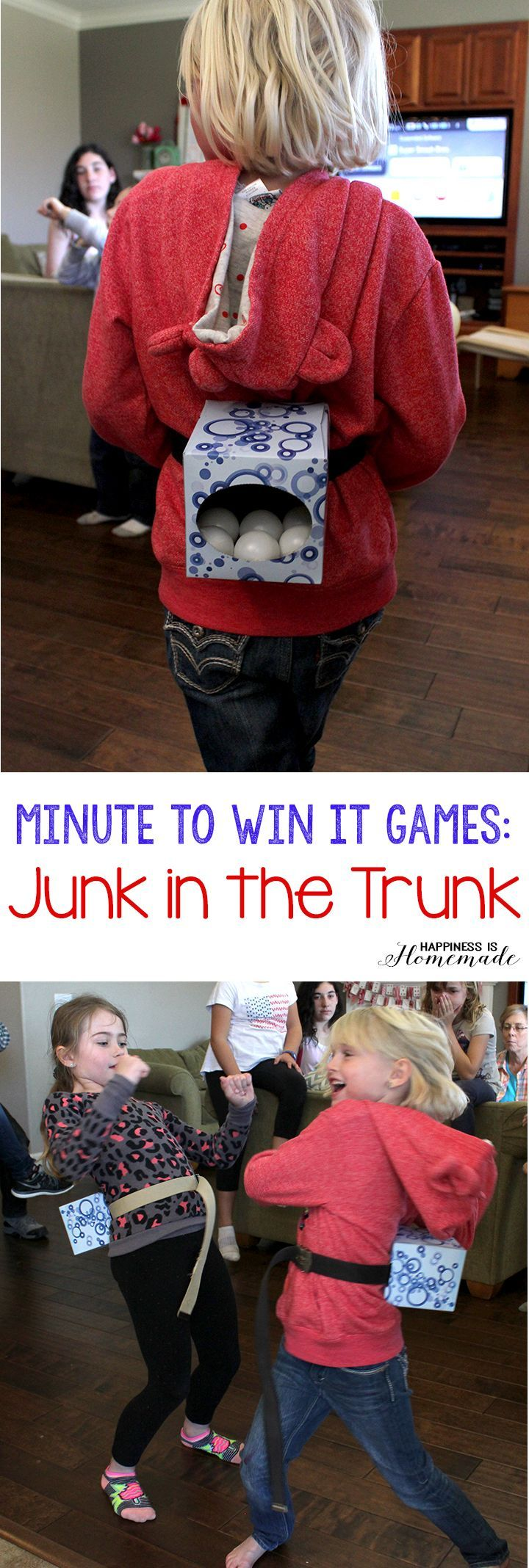 These 10 Minute to Win It games were perfect for all ages – challenging enough for older children, but easy enough for everyone to join in the fun! Hysterical silly fun for everyone!
