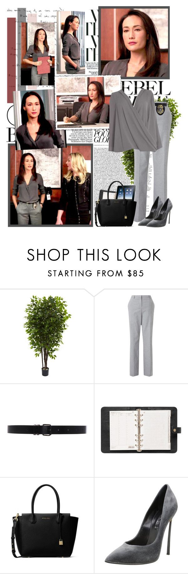 """""""Beth Davis"""" by productionkid ❤ liked on Polyvore featuring Nearly Natural, John Lewis, Ann Demeulemeester, Dorothy Perkins, Mulberry, MICHAEL Michael Kors, Casadei, stalker, MaggieQ and StalkerCBS"""