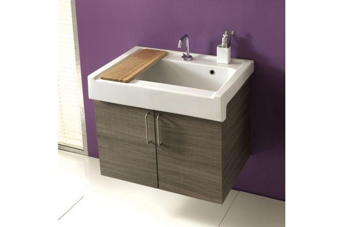 Lavarredo   mobile sospeso con ante e lavabo in ceramica   xilon ...
