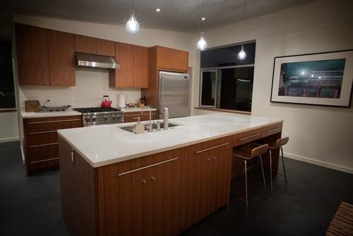 Milestone Floor With Wood Cabs Kitchen Pinterest