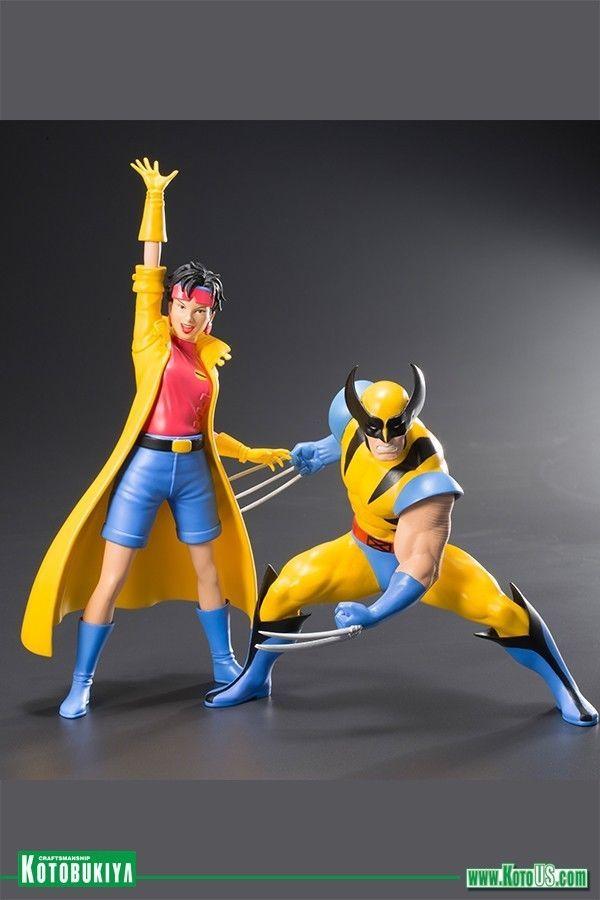 Kotobukiya Marvel Universe X Men 92 Wolverine Jubilee Two Pack Artfx Statue Kotobukiya Wolverine X Men Marvel