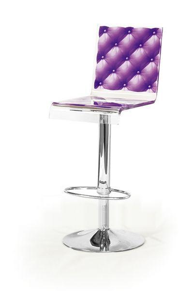 Tabouret de bar réglable Capiton violet