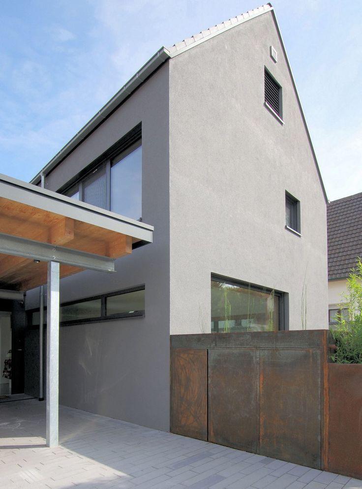 Architektenhaus Karlsruhe Cortenstahl Putz