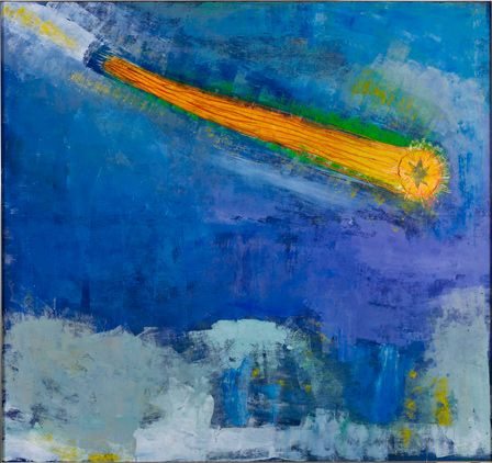"""Paterson Ewen, Halley's Comet as Seen by Giotto.1979 Courtesy Art Gallery of Ontario © Mary Alison Handford"""""""