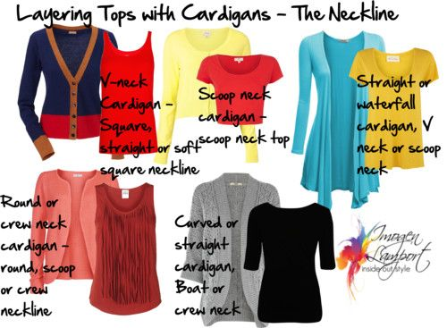 Layering Tops – The All Important Neckline - matching cardigan and top necklines