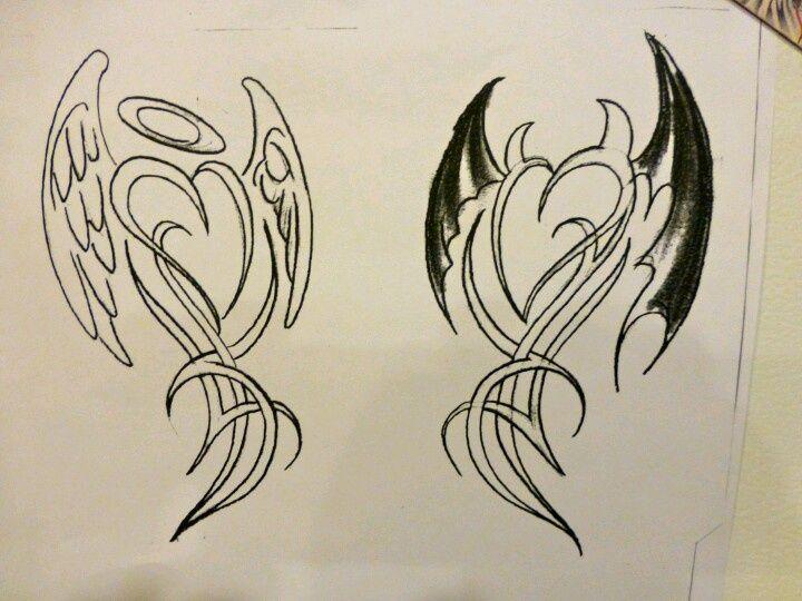 devil/angel tattoo - Google Search