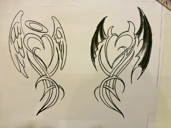 devil/angel tattoo - Google Search