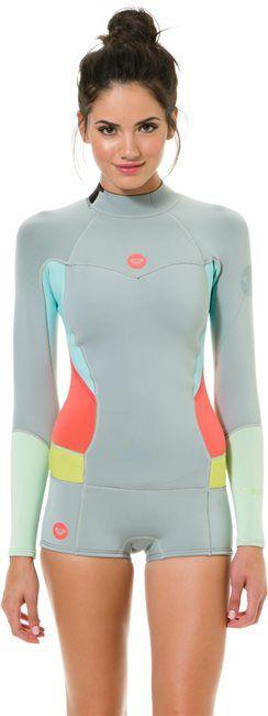 Roxy 2MM Long Sleeve booty cut springsuit wetsuit http://www.swell.com/New-Arrivals-Gear/ROXY-2MM-LS-BOOTY-CUT-SPRINGSUIT?cs=GR @ROXY