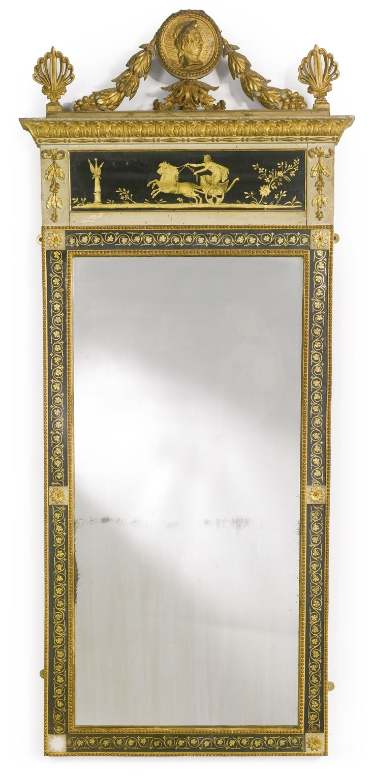 An Italian parcel-gilt and cream-painted mirror possibly Lucca, circa 1800   Lot   Sotheby's