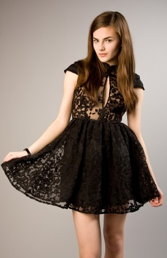 This Is The Product Of A Little Black Dress Gone Sheer And Say It Right By Cameo