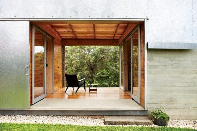 House frames view and connects exterior spaces together.