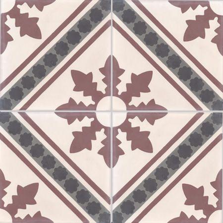 Carreaux de ciment - décors 4 carreaux - Carreau NC2 35.32.07.01 - Couleurs & Matières