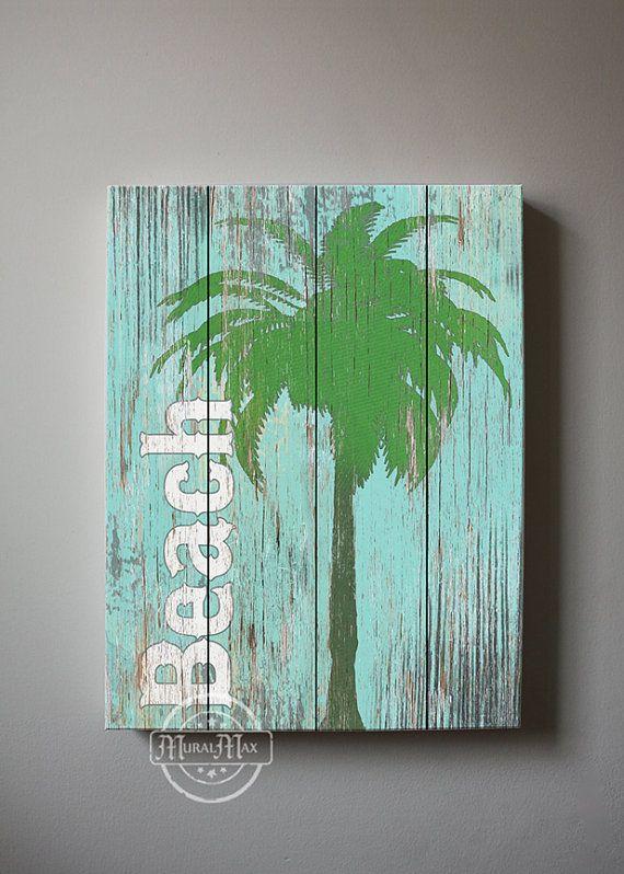 Beach Wall Art, Vintage Kids Beach Decor, 12x16 Canvas Art , Boys Room Surf Decor , Beach Canvas art