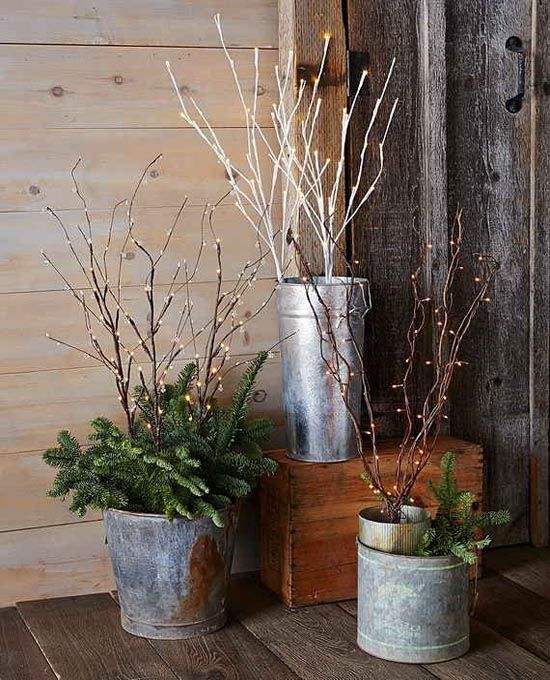 5 Ways To Decorate Your Deck With Plants: 17 Best Ideas About Outdoor Christmas Planters On