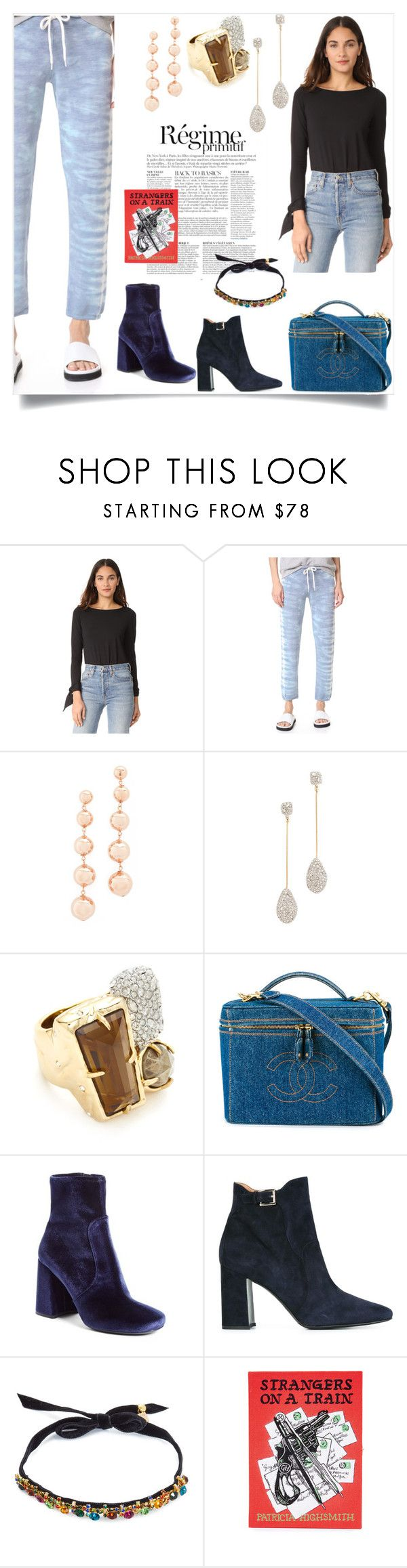 """""""Fashion Style"""" by denisee-denisee ❤ liked on Polyvore featuring Anja, Susana Monaco, Monrow, Kate Spade, Alexis Bittar, Chanel, Prada, Fratelli Rossetti, DANNIJO and Olympia Le-Tan"""