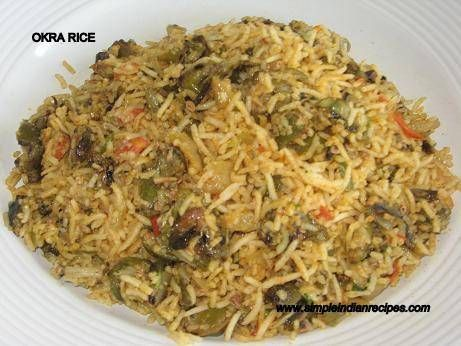 22 best indian lunch box travel picnic recipes images on okra rice ladies finger or bindi or vendakkai simple indian recipes okra recipestasty food recipespicnic forumfinder Images