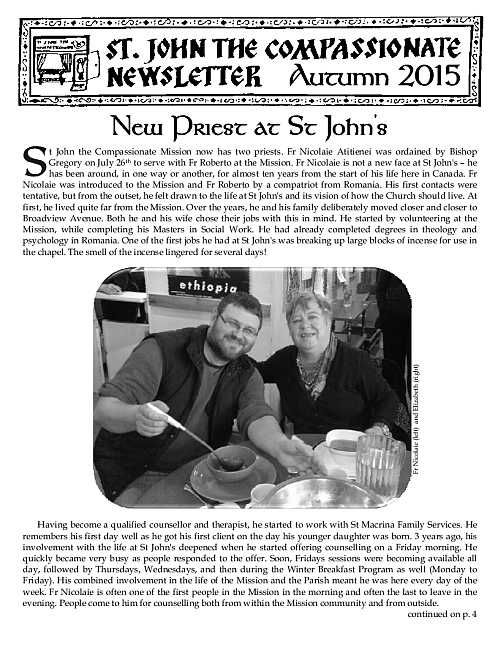 St John's Mission - Newsletters
