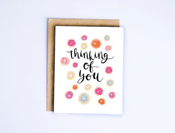 46 best greeting cards by sable gray images on pinterest thinking of you donuts card hand lettered card hand illustrated card donut card funny card thinking of you snail mail publicscrutiny Image collections