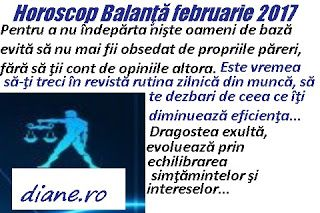 Horoscop februarie 2017 Balanţă